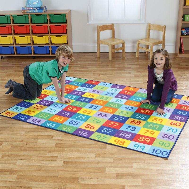 """Paklājs """"Skaitļu varavīksne"""""""