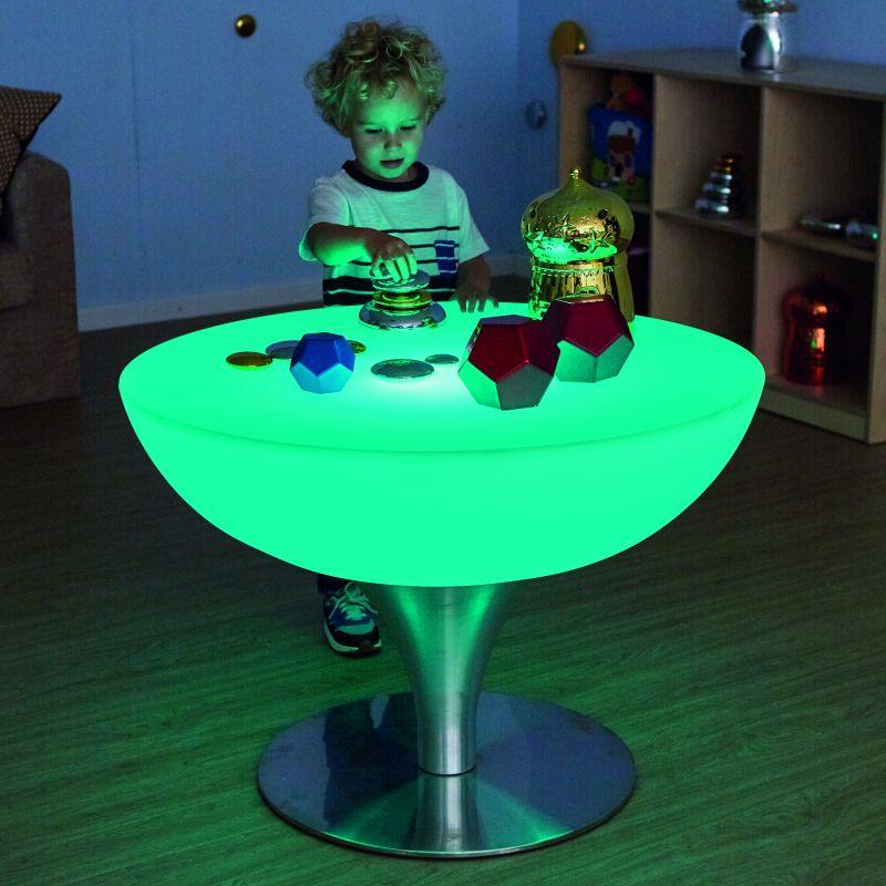 Apaļš gaismas galdiņš