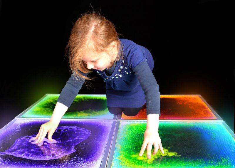 Apgaismojošs, sensorais grīdas flīzes (oranža)