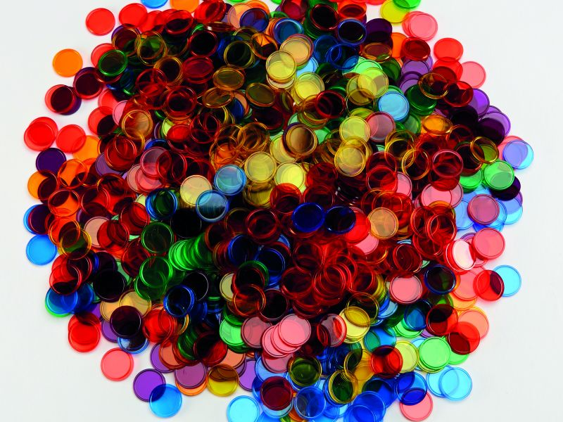 Dažādu krāsu apļi